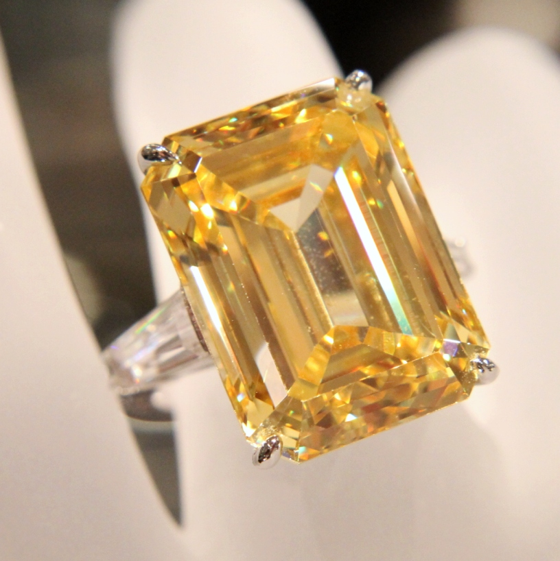 fantasia fine jewelry emerald cut canary ring anns fine