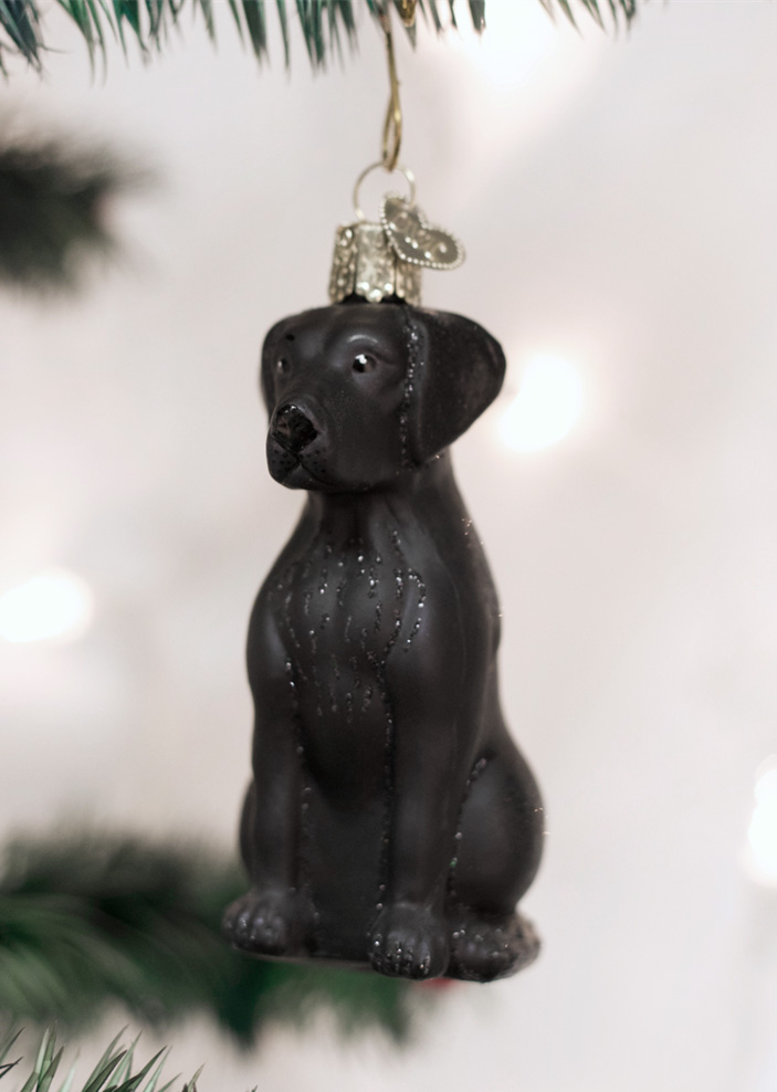 Christmas Ornament Black Lab